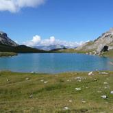 Starten Sie Ihre Tour des Queyras am Campingplatz La Rochette von Guillestre und entdecken Sie den Lac de Baricle.