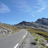 Valicate il passo Agnel vicino al Monviso per venire al campeggio di Guillestre.