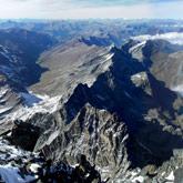 Vista stupenda dalla cima del Monviso verso il Queyras sulla frontiera franco-italiana.